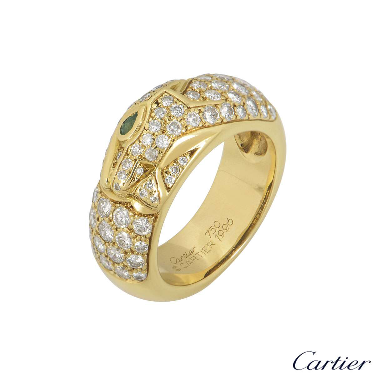 Cartier Yellow Gold Diamond Set Panthere Ring